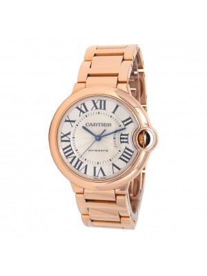 Cartier Ballon Bleu 18k Rose Gold Automatic Mid-Size Watch W69004Z2