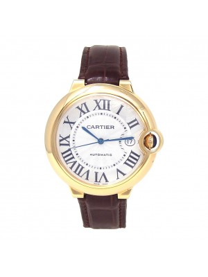 Cartier Ballon Bleu 18k Yellow Gold Date Display Automatic Men's Watch W6900551