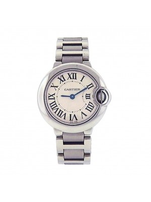 Ladies Cartier Stainless Steel Ballon Bleu W69010Z4 Quartz Dress Watch