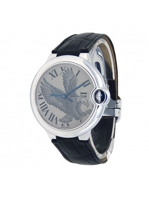 Cartier Ballon Bleu Flying Eagle 18k White Gold Automatic Men's Watch W6920023