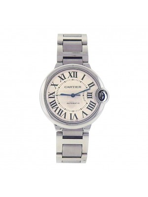 Men's Cartier W6920046 Stainless Steel Ballon Bleu Automatic Silver Dress Watch