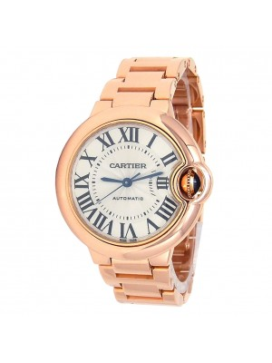 Cartier Ballon Bleu 18k Rose Gold Automatic Men's Watch W6920096