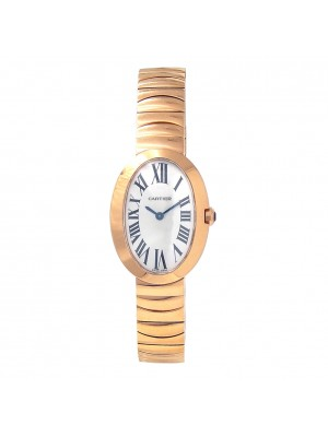 Cartier Baignoire 18k Rose Gold Swiss Quartz Ladies Watch W8000005