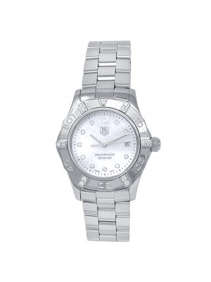 Tag Heuer Aquaracer Stainless Steel Mother or Pearl Ladies Watch WAF141G.BA0813