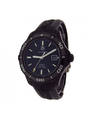 Tag Heuer Aquaracer WAK2180.FT6027 Black PVD Steel Rubber Auto Black Men's Watch
