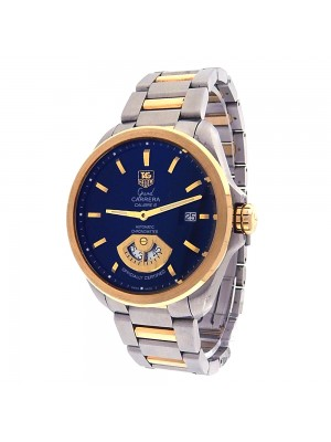 Tag Heuer Grand Carrera WAV515A Stainless Steel & 18K Yellow Gold Automatic Black Watch