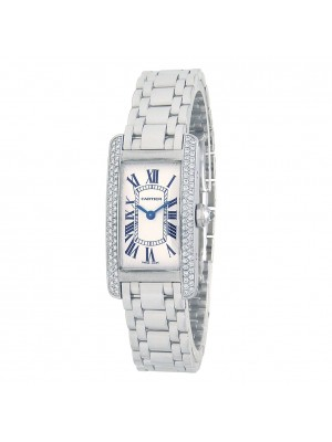Cartier Tank Americaine 18k White Gold Women's Watch Quartz WB7018L1