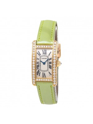 Cartier Tank Americaine 18k Yellow Gold Swiss Quartz Ladies Watch WB707231