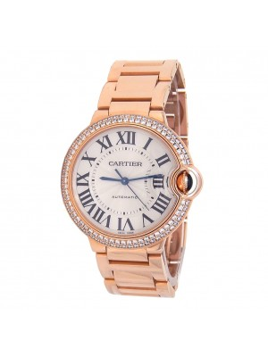 Cartier Ballon Bleu 18k Rose Gold Automatic Mid-Size Watch WE9005Z3