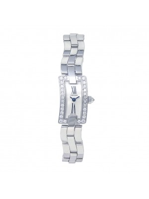 Cartier Ballerine 18k White Gold  Swiss Quartz Diamond Ladies Watch WG40033J