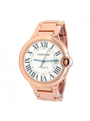 Cartier Ballon Bleu 18k Rose Gold Automatic Men's Watch WGBB0016