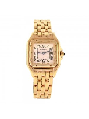 Cartier Panthere 18K Yellow Gold Roman Numerals Quartz Ladies Watch WGPN0008