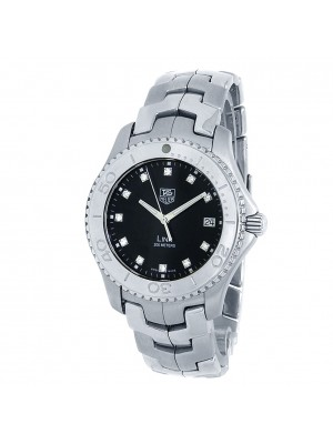 Tag Heuer Link Stainless Steel Quartz Diamonds Black Men's Watch WJ1113.BA0575