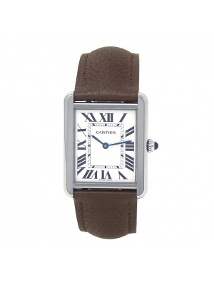 Cartier Tank Solo Stainless Steel Swiss Quartz Ladies Watch WSTA0028