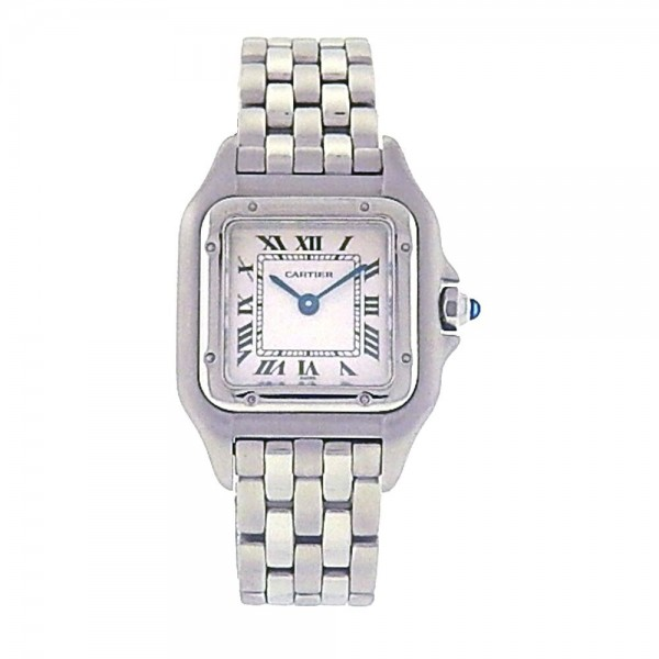 f2dee19d692 Cartier Panthere Stainless Steel Roman Numbers Quartz Movement ...