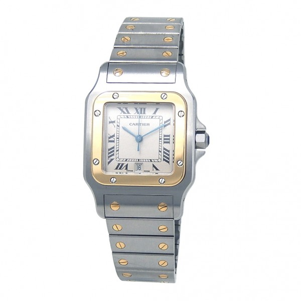 ae8adc067cf4 Cartier Santos Galbee Stainless Steel 18k Yellow Gold Quartz Ladies ...