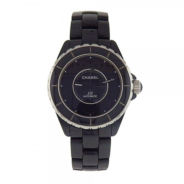 Chanel J12 Intense Black Ceramic Case And Bracelet Automatic Ladies Watch H3829