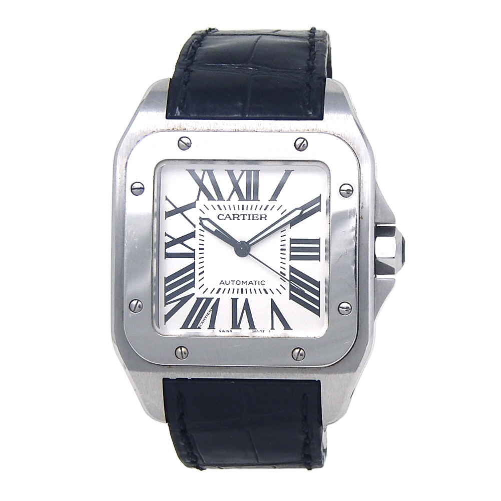 6ab2e32c9 Cartier Santos 100 Stainless Steel Automatic Men's Watch W20073X8